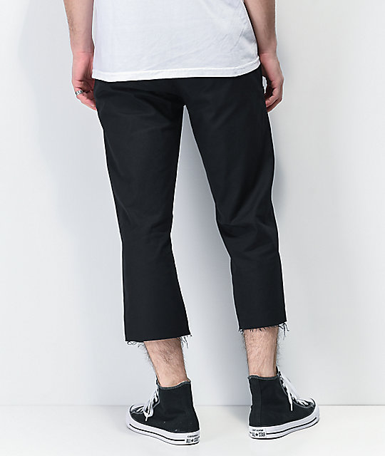 Learn To Forget x Smiley Anarchy Black Elastic Waist Chino Pants