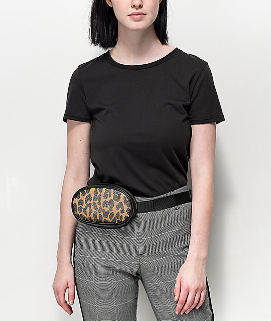 Leopard Oval Fanny Pack