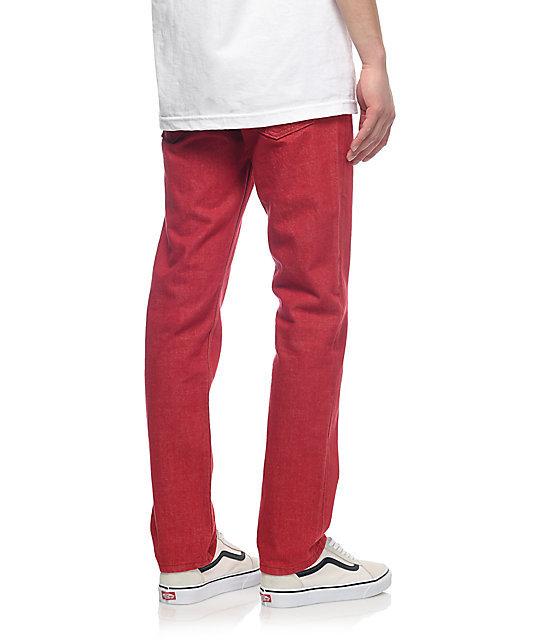 Levi 511 Scooter Red Slim Fit Jeans