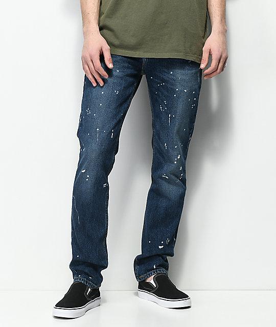 Levi's 511 Prof Marvel Dark Indigo Splatter Slim Fit Jeans