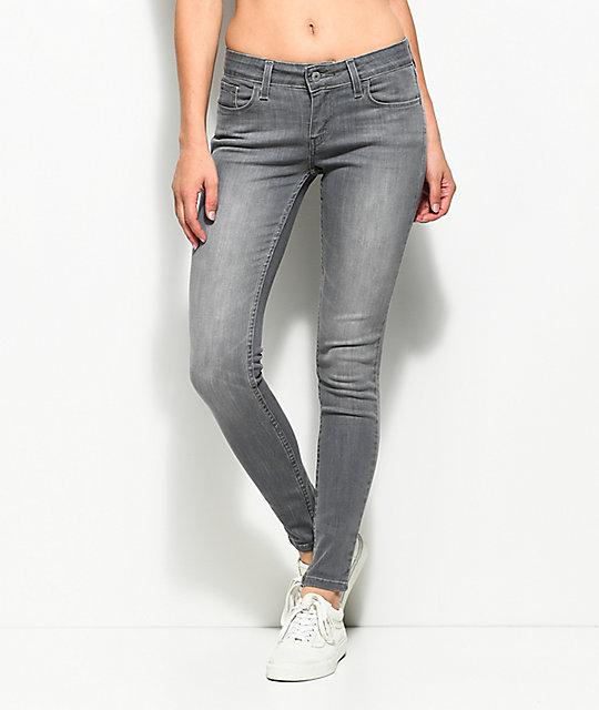212b2125 Levi's 535 Grey Smoke Super Skinny Jeans | Zumiez