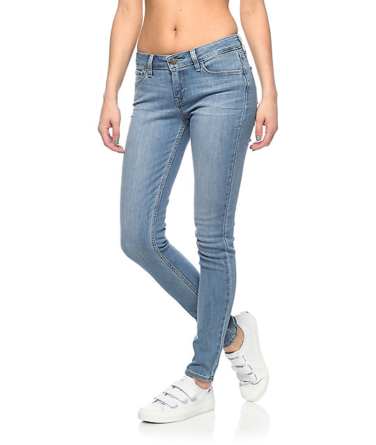 e00598a8 Levi's 535 Light Wash Super Skinny Jeans | Zumiez