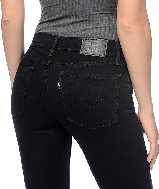 092e882b1dc ... Levi s 710 Black Echo Mid Super Skinny Jeans