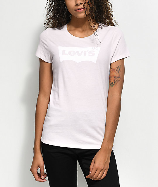 97378a34 Shoptagr | Levi's Batwing Pink T Shirt by Levi's