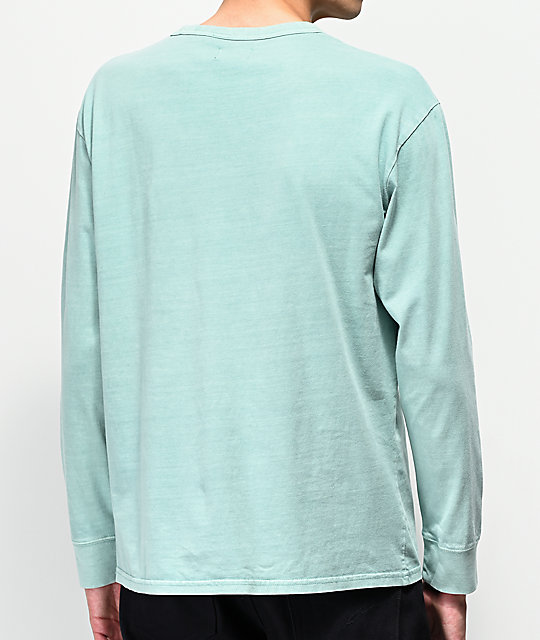 Levi's Palm Tree Mint Green Long Sleeve T-Shirt
