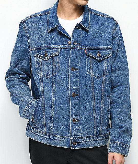7a4becb41e4a9 Levi s The Trucker Blue Powder Acid Wash Denim Jacket