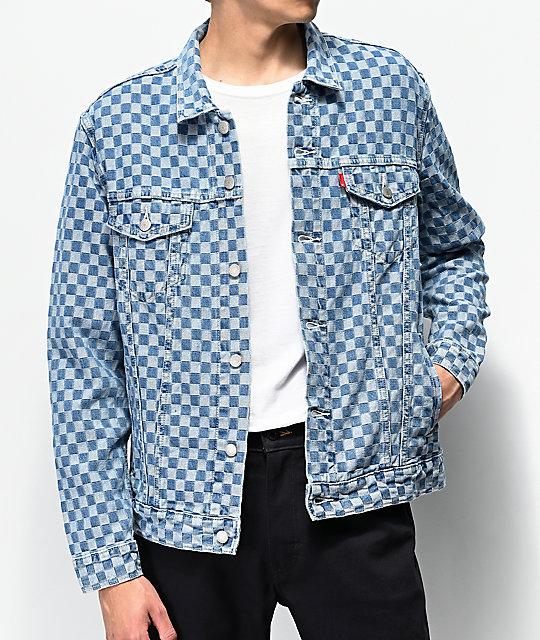 ed0ccfb43 Levi's Trucker Checkered Denim Jacket