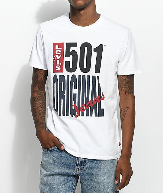 4bab04a54f Levis 501 Logo White T-Shirt