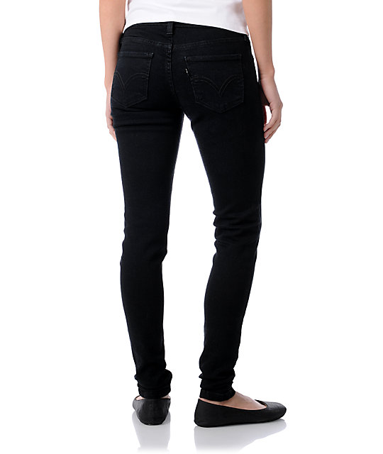 Levis 535 Black As Night Jeggings