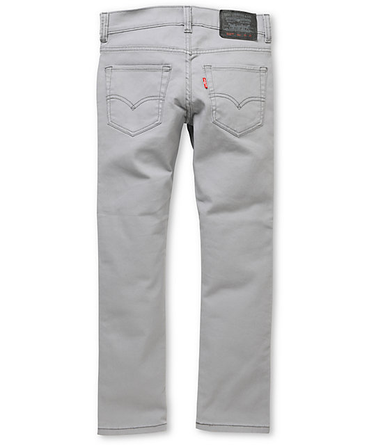 Levis Boys 510 Light Grey Super Skinny Jeans