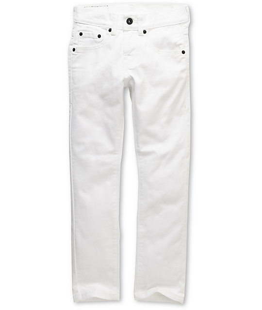 Levis Boys 510 White Super Skinny Jeans