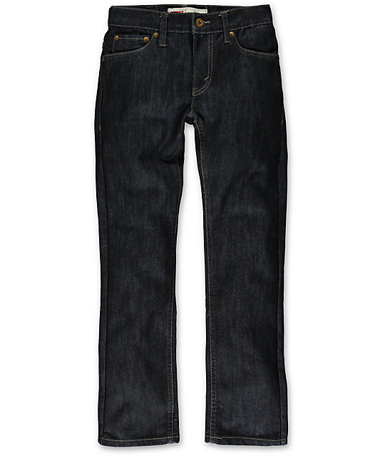 738c6edeef4fc7 Levis Boys 511 Bacano Dark Blue Skinny Jeans | Zumiez