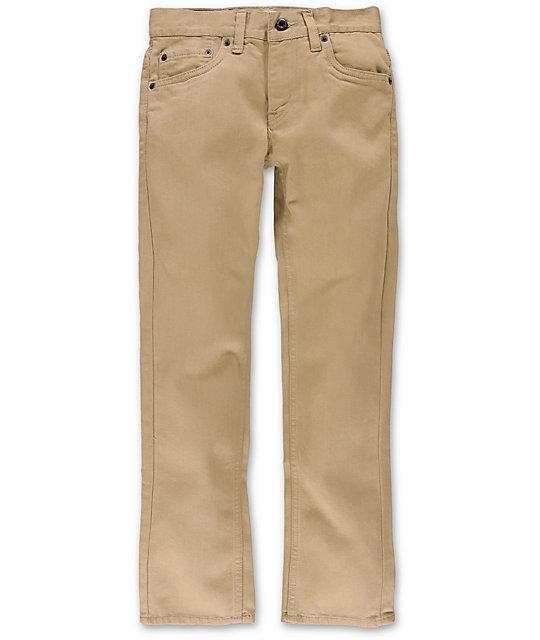 617b4c3d3df Levis Boys 511 Chinchilla Khaki Twill Pants | Zumiez