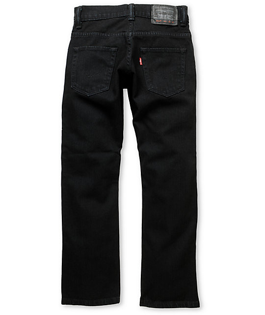 Levis Boys 511 Stretch Denim Black Skinny Jeans