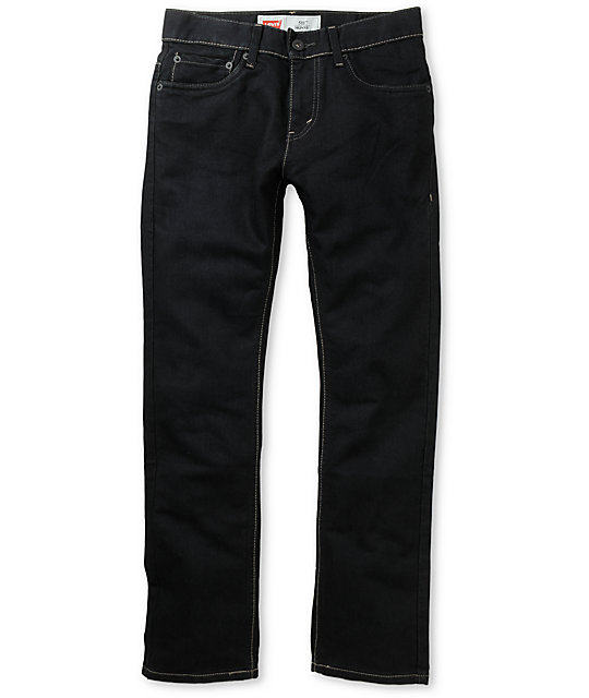 Levis Boys 511 Stretch Denim Dark Blue Skinny Jeans
