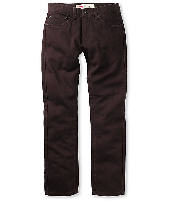 Levis Boys 511 Stretch Denim Maroon Skinny Jeans