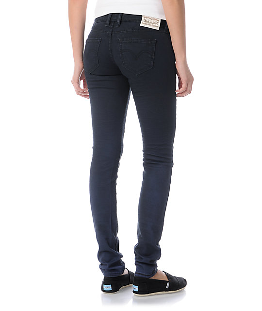 Levis Faded Past Blue Ombre Low Twist Skinny Jeans