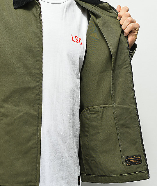 Levis Skateboarding Mechanic's Olive Jacket