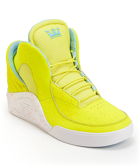 Lil Wayne x Supra SPECTRE Chimera Highlighter Yellow Shoes  772f4f885