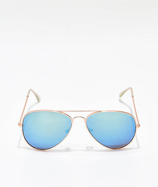 Lily Rose Gold & Ice Blue Sunglasses