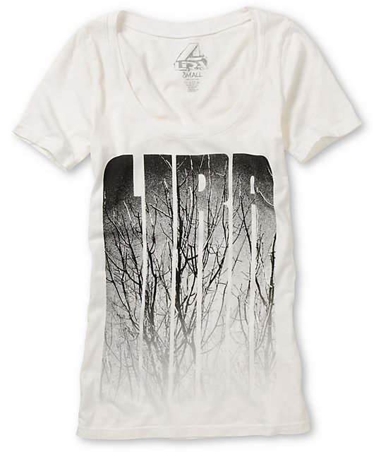 Lira Branches White Scoop Neck T-Shirt
