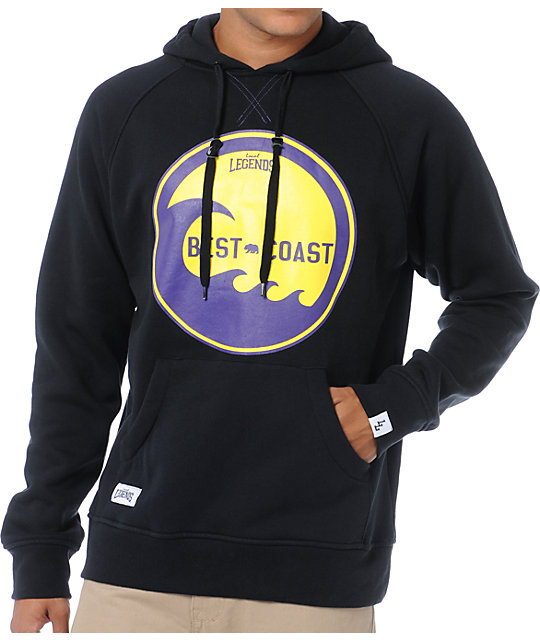 Local Legends Best Coast Black & Purple Pullover Hoodie