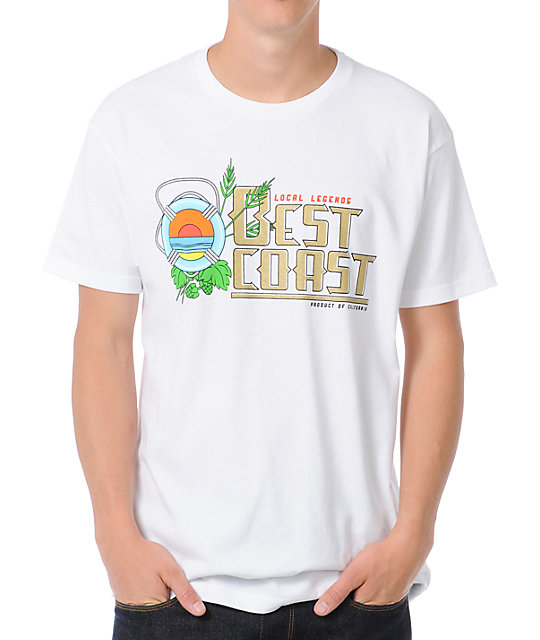 Local Legends Best Coast White T-Shirt