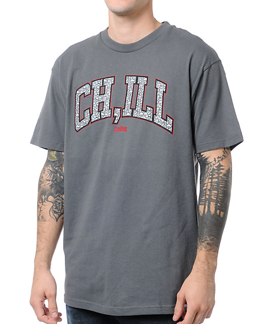 Local Legends CHILL Charcoal Grey T-Shirt