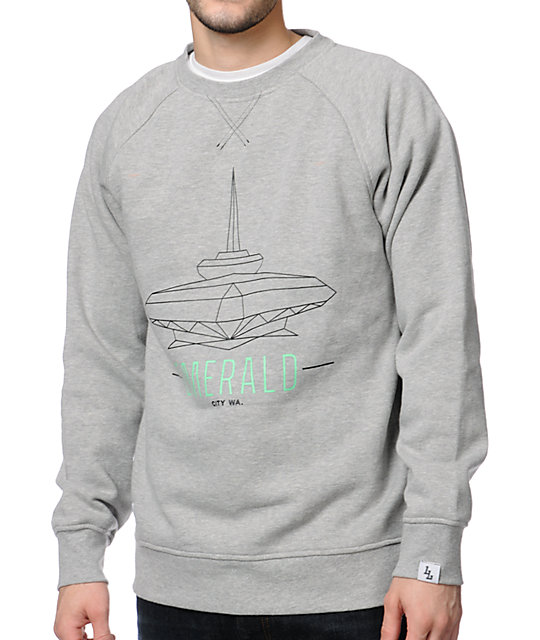 Local Legends Emerald City Grey Crew Neck Sweatshirt