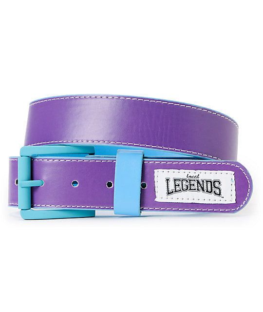 Local Legends Off Sides Turquoise & Purple Belt