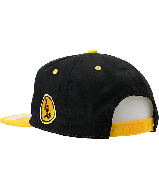 Local Legends Right Coast Yellow & Black Snapback Hat