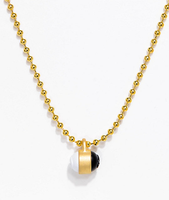 Lokai gold single pendant necklace zumiez lokai gold single pendant necklace aloadofball Choice Image