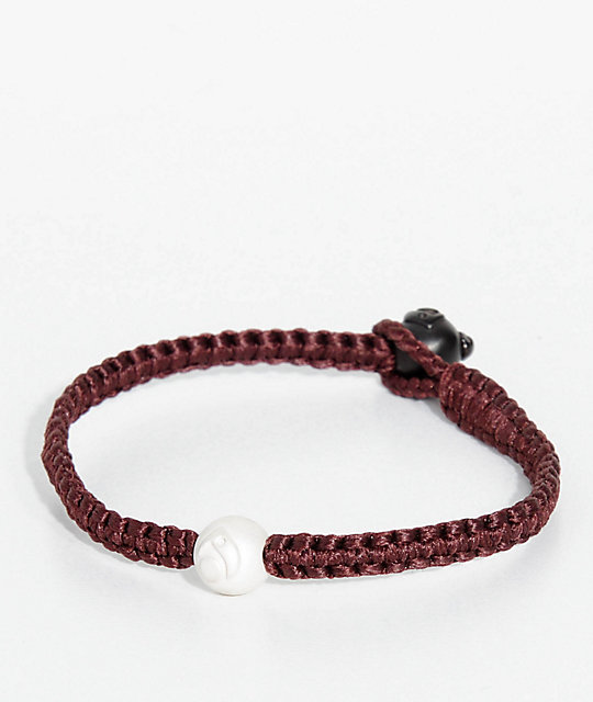 Lokai Single Wrap Burgundy Bracelet
