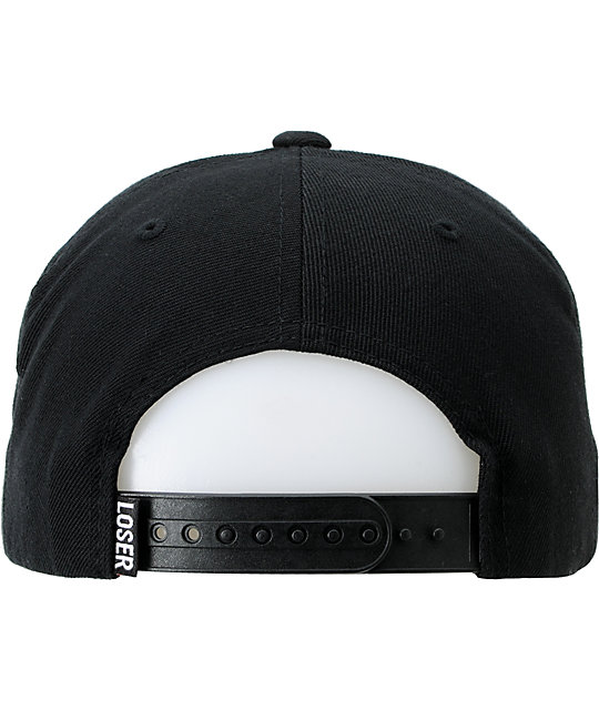 Loser Machine Box Logo Pro Black & Black Snapback Hat