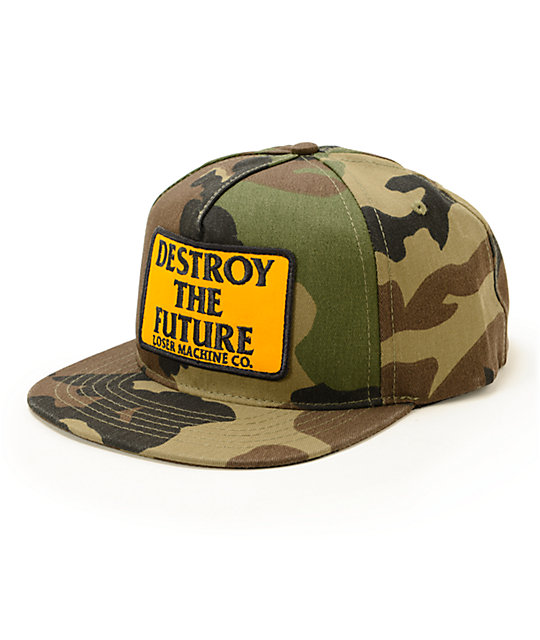 0ab90a75bea Loser Machine DTF Camo Snapback Hat