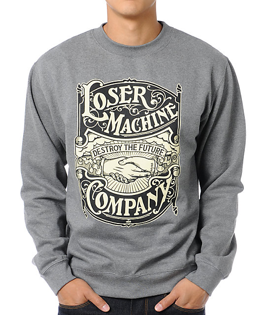 Loser Machine Destroy The Future Crew Neck Sweatshirt