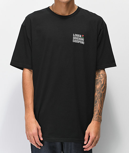 Loser Machine Garden Black T-Shirt