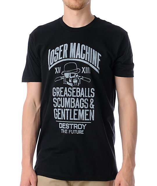 Loser Machine Gents Black Premium T-Shirt