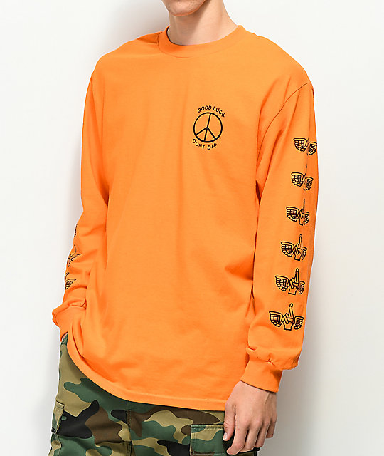 Loser Machine Trench Light Orange Long Sleeve T-Shirt