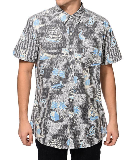 2f53d91b Lost At Sea Button Up Shirt | Zumiez