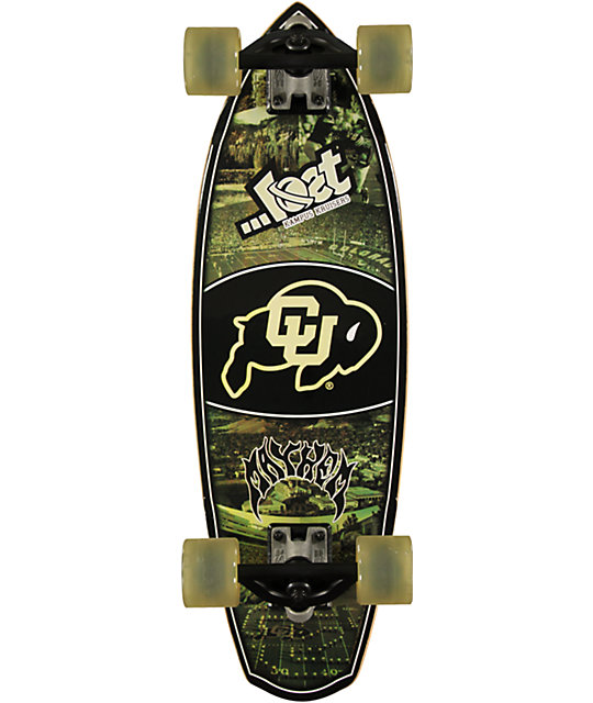 "Lost Colorado University Buffaloes Rocket Mini 28""  Cruiser Complete Skateboard"