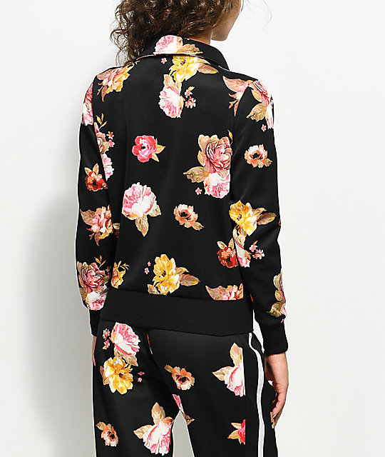 Love, Fire Scuba Floral Track Jacket