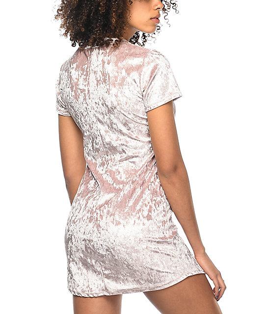 0e2af4be3 ... Lunachix Karrie vestido rosa de terciopelo ...
