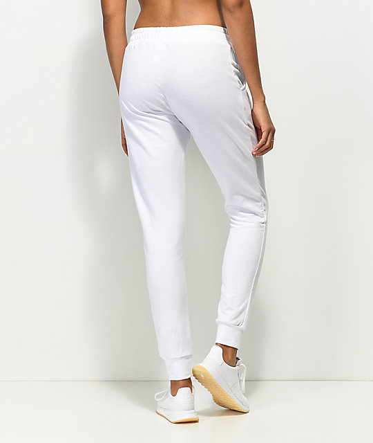 Lunachix White Rose Side Jogger Sweatpants