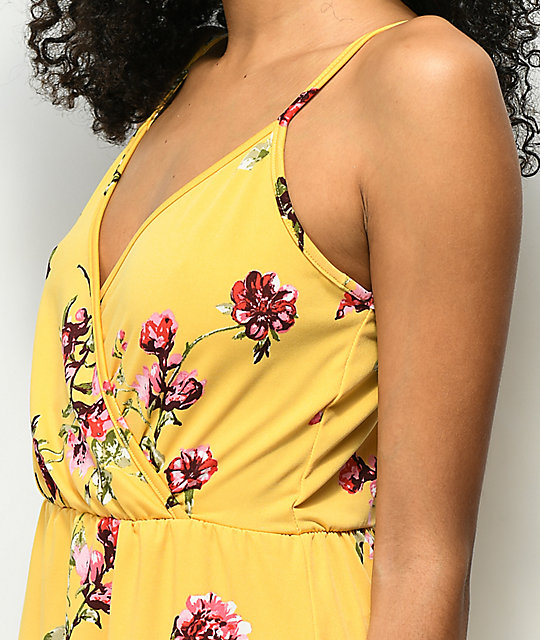 Lunachix Yellow Floral Dress