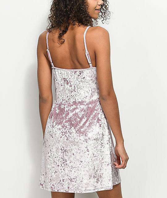 588959039 ... Lunachix vestido rosa de terciopelo con cordones ...