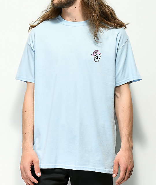 Lurking Class By Sketchy Tank Beach Light Blue T-Shirt