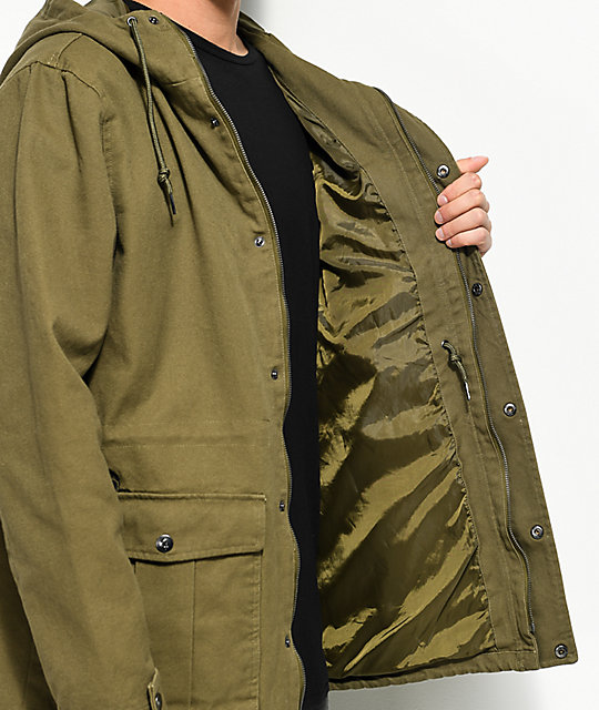 Lurking Class By Sketchy Tank Dan Olive Twill Parka Jacket