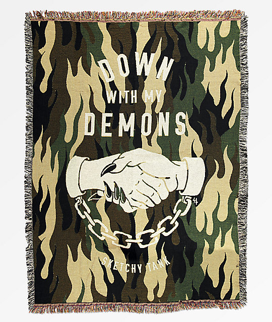 Lurking Class By Sketchy Tank Demons Blanket