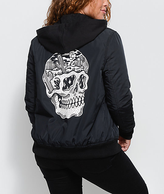 Lurking Class By Sketchy Tank Desert Bomb Flight Black Bomber Jacket
